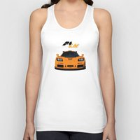 f1 Tank Tops featuring 1995 McLaren F1 LM  by vsixdesign