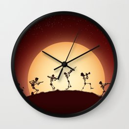 Dixieland Skeletons Wall Clock