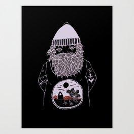 Ocean dreamer sailor Art Print