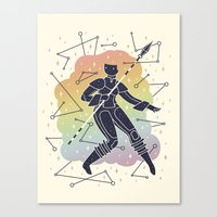 warrior Canvas Prints featuring Rainbow Warrior by LordofMasks