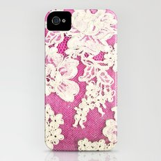 pink lace-photograph of vintage lace Slim Case iPhone (4, 4s)