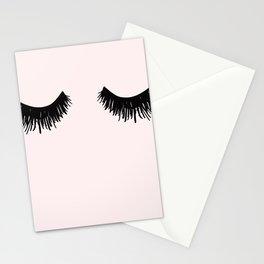 Eyelashes on Pink Lashes Art Stationery Cards