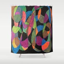 Intertwining Circles Shower Curtain