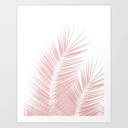 Blush Pink Palm Leaves Dream - Cali Summer Vibes #1 #tropical #decor #art #society6 Art Print