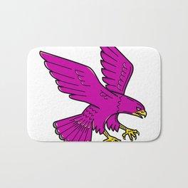 Peregrine Falcon Swoop Mono Line Bath Mat