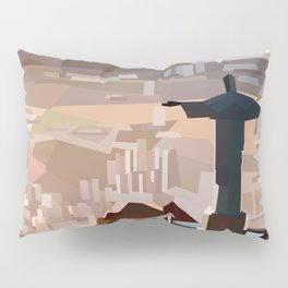 Geometric Christ the Redeemer, Brazil Pillow Sham