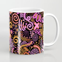 Pink Orange Yellow Zendoodle Coffee Mug