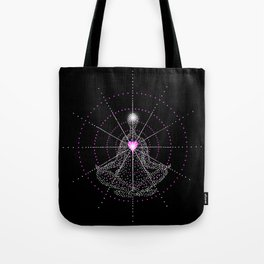 Aligning the mind with the Heart Tote Bag