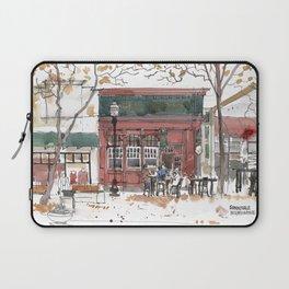 Sunnyvale Downtown Cafe Art Print Laptop Sleeve