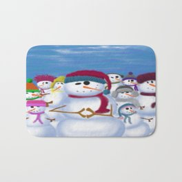 The Snowman & His Posse Bath Mat
