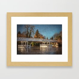 The Toll Bridge At Whitchurch-on-Thames Framed Art Print