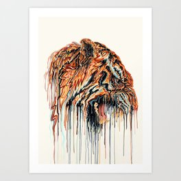 Dripping Tiger Art Print