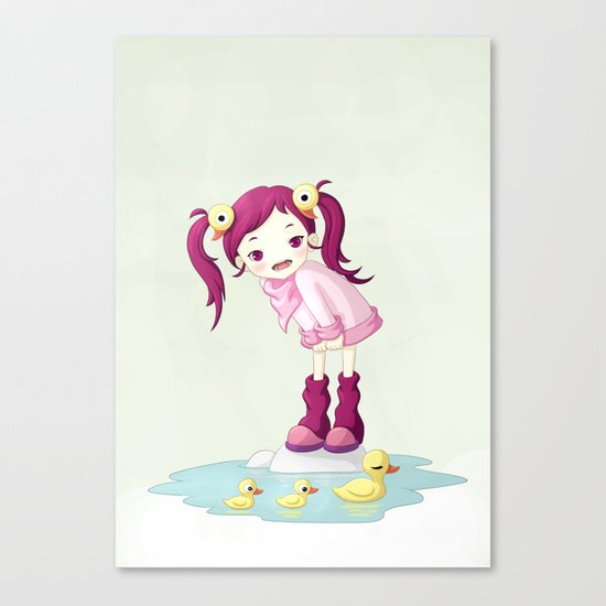 Puddle Ducks Canvas Print