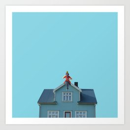Poppins tea Art Print