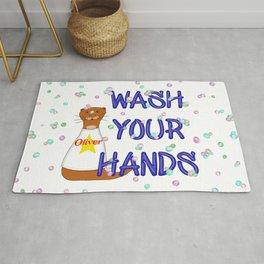 Wash Your Hands Oliver The Otter Rug
