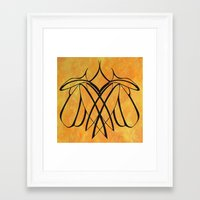lesbian Framed Art Prints featuring Together Lesbian Love by taiche