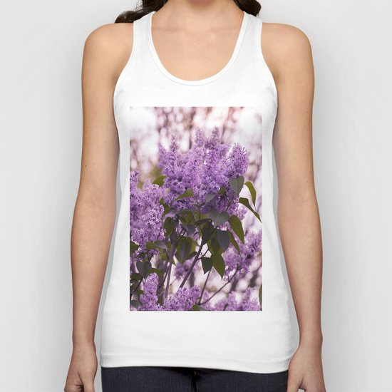 Purple lilacs Unisex Tank Top