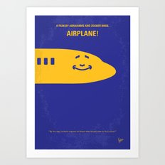 No392 My Airplane! minimal movie poster Art Print