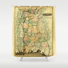 Map of Alabama (1826) Shower Curtain