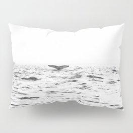 WHITE - SEA - WAVES - WATER - WHALE - NATURE - ANIMAL - PHOTOGRAPHY Pillow Sham