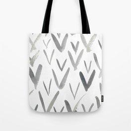 Watercolor V's - Grey Gray Tote Bag