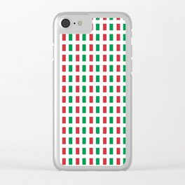 flag of Italia- Italy,Italia,Italian,Latine,Roma,venezia,venice,mediterreanean,Genoa,firenze Clear iPhone Case