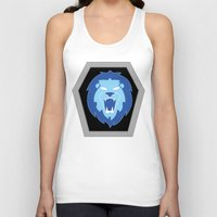hologram Tank Tops featuring Visionaries Lion by Eden Nur Madinah