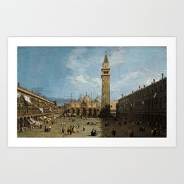 Canaletto - Piazza San Marco Art Print