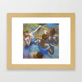 """Edgar Degas """"Dancers in blue"""" Framed Art Print"""