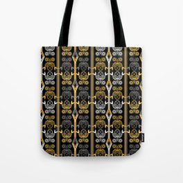 Yellow and black , ornament Tote Bag