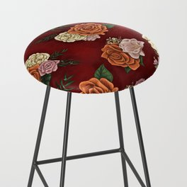 Red luxury flowers Bar Stool