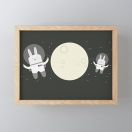 Astro Bunnies Framed Mini Art Print