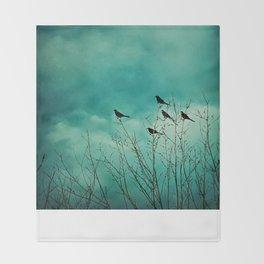 Like Birds on Trees Throw Blanket