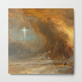 """Frederic Church """"Vision of the Cross"""" Metal Print"""