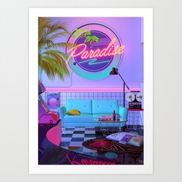Paradise Wave Art Print