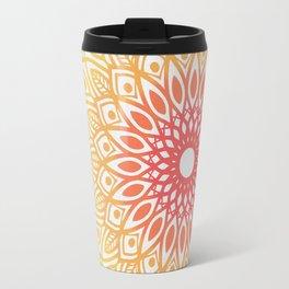 Rainbow Colored Mandala Travel Mug