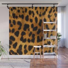 Faux Leopard Skin Pattern Wall Mural