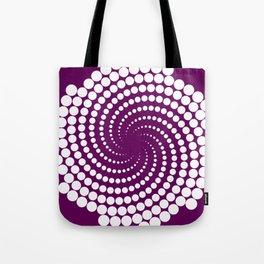 white and purple Tote Bag