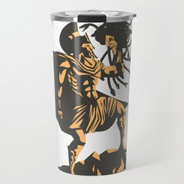 perseus holding the head of the medusa Travel Mug