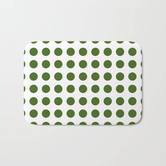 Simply Polka Dots in Jungle Green Bath Mat