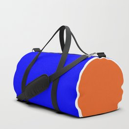 TEAM COLORS 10....ORANGE AND BLUE Duffle Bag