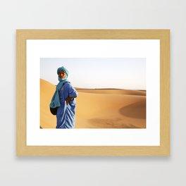 Blue Berber Morocco Framed Art Print