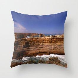 The Razorback Coastal Formation Throw Pillow