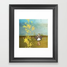 japanese girl Framed Art Print