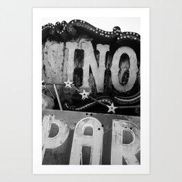Black & White Neon Art Print