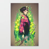barachan Canvas Prints featuring kenkyo by barachan