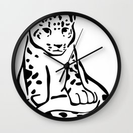 Spotted Leo Wall Clock
