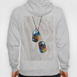 Military Art Dog Tags - Honor - By Sharon Cummings Hoody