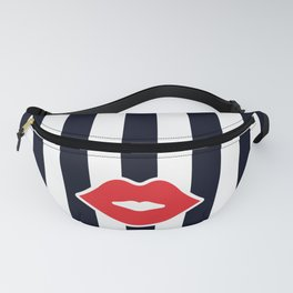 Red Lips with Stripes Fanny Pack