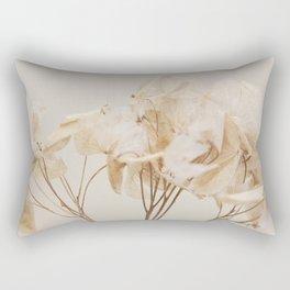 Natural Beige Flower Botanical Rectangular Pillow